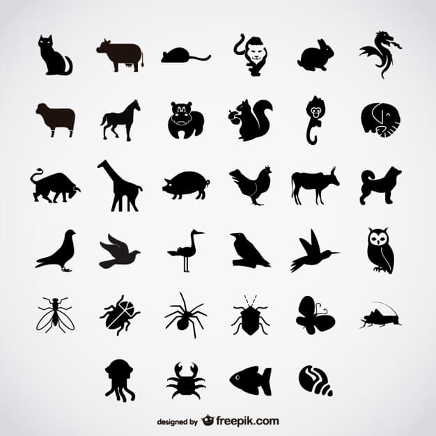 Simple birds silhouettes