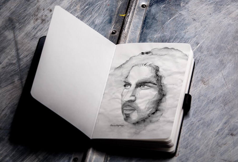 Photorealistic Sketchbook Mockup