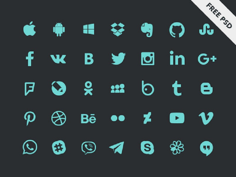 Social Icons By Elena