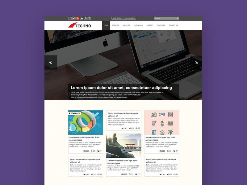 Techno Blog Template