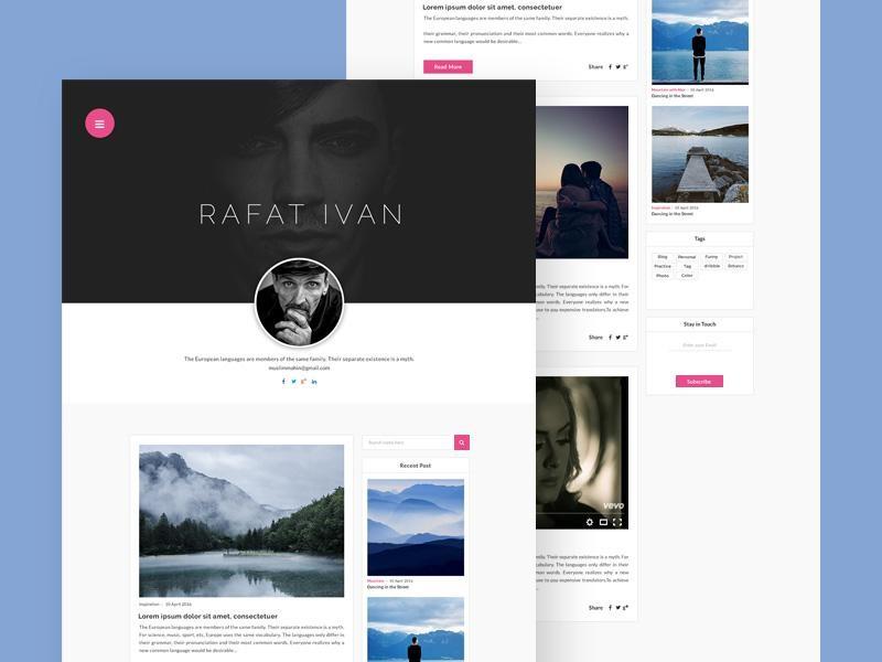 Personal Blog Website
