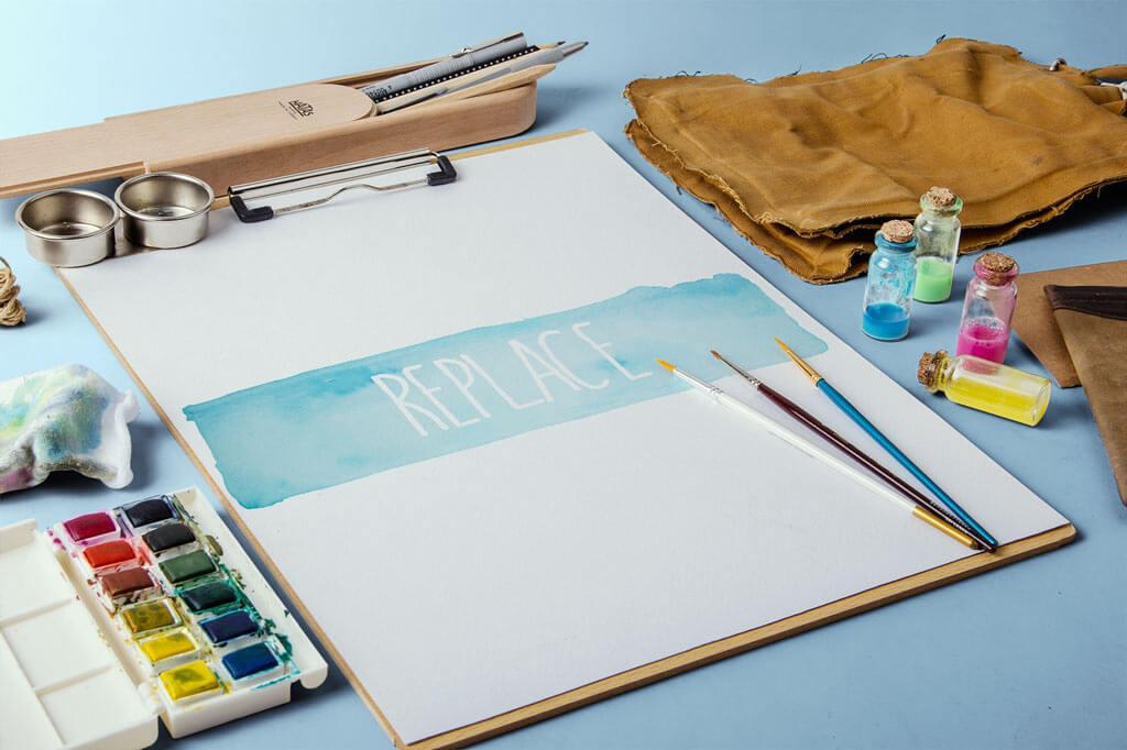 Watercolor Sketches Mockup Bundle