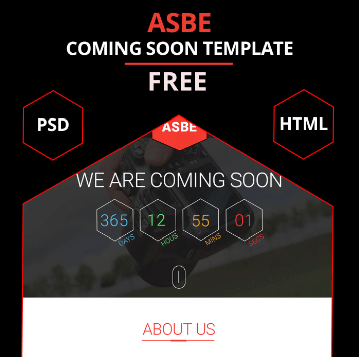 ASBE Free Coming Soon Template (PSD)