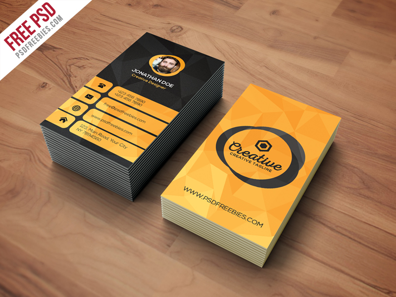 Agency Business Card Template Free PSD