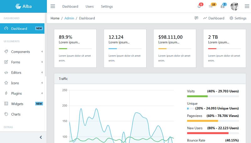 Alba - Bootstrap Admin Template