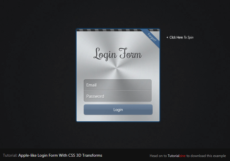 Apple-like Login Form