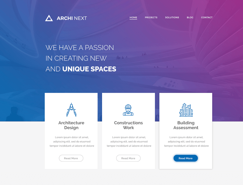 Archi Next website