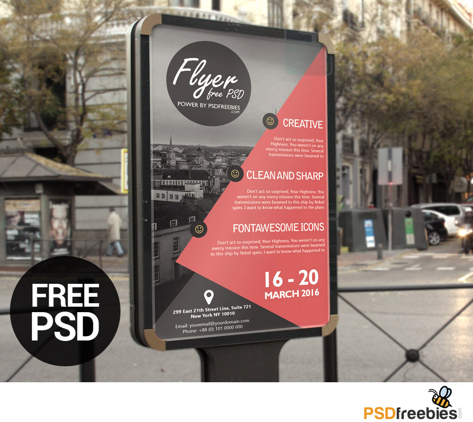 23 best free business flyer psd templates 2018 business advertisement poster or flyer template psd cheaphphosting Gallery