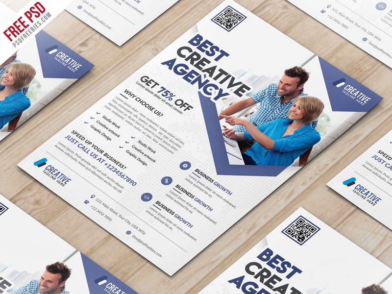 Business Marketing Flyer Free PSD Template