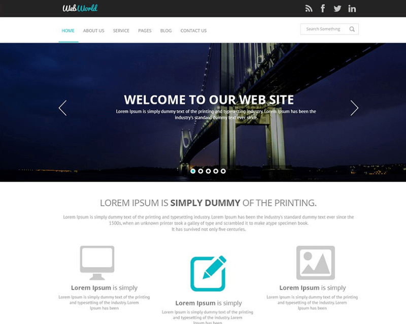 Business Web Template PSD Download