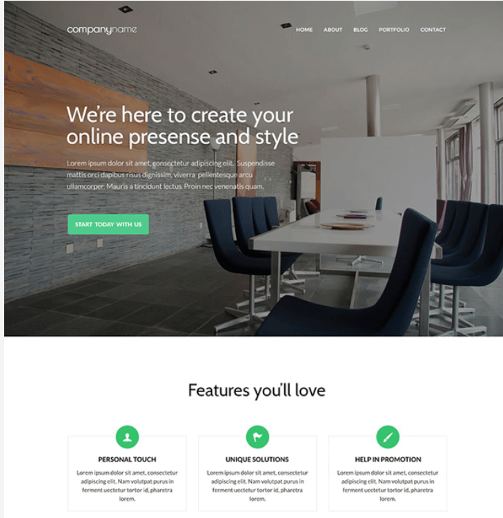 Business Website PSD Template