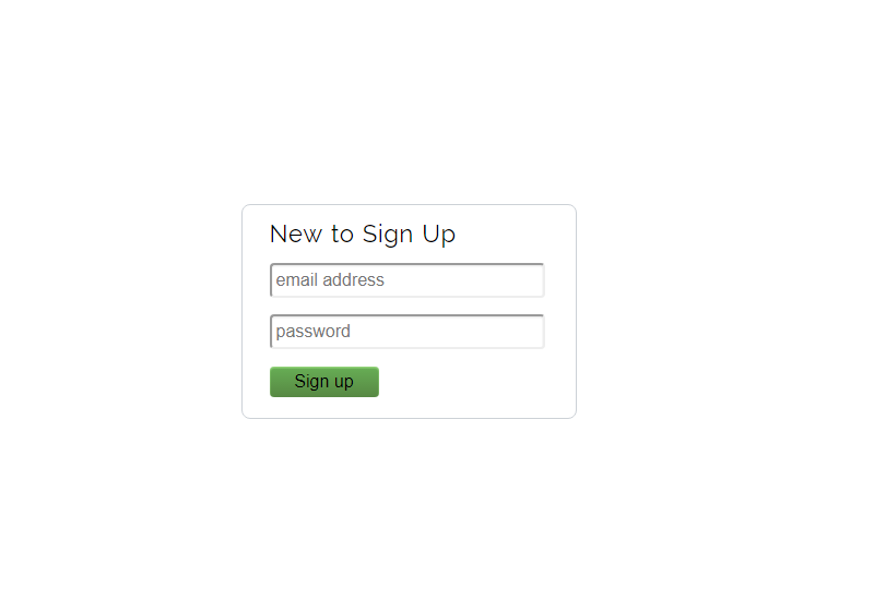 Clean Signup Form