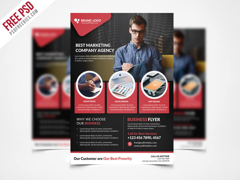 Corporate Business Flyer Template PSD Freebie