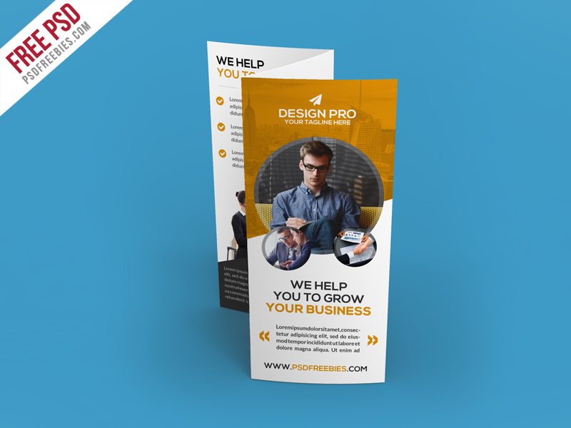 Corporate Trifold Brochure Template Free PSD Home