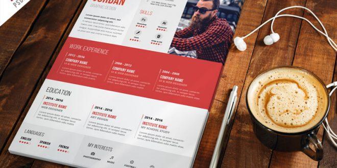 Free CV Resume PSD Templates