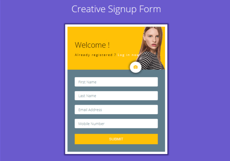 Creative Signup Form