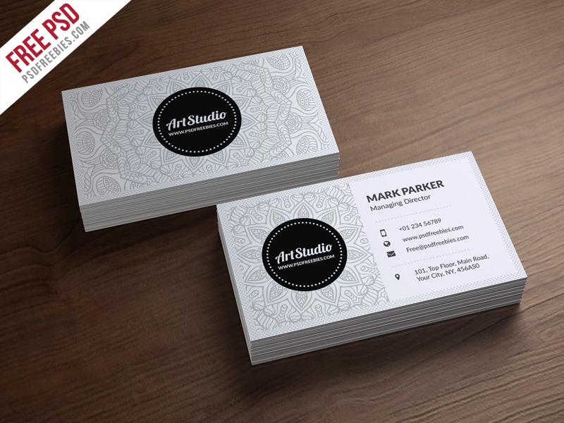 Creative White Business Card