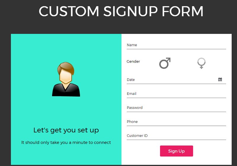 Custom Signup Form
