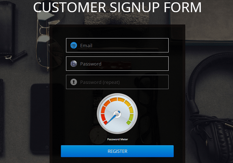 Customer Signup Form
