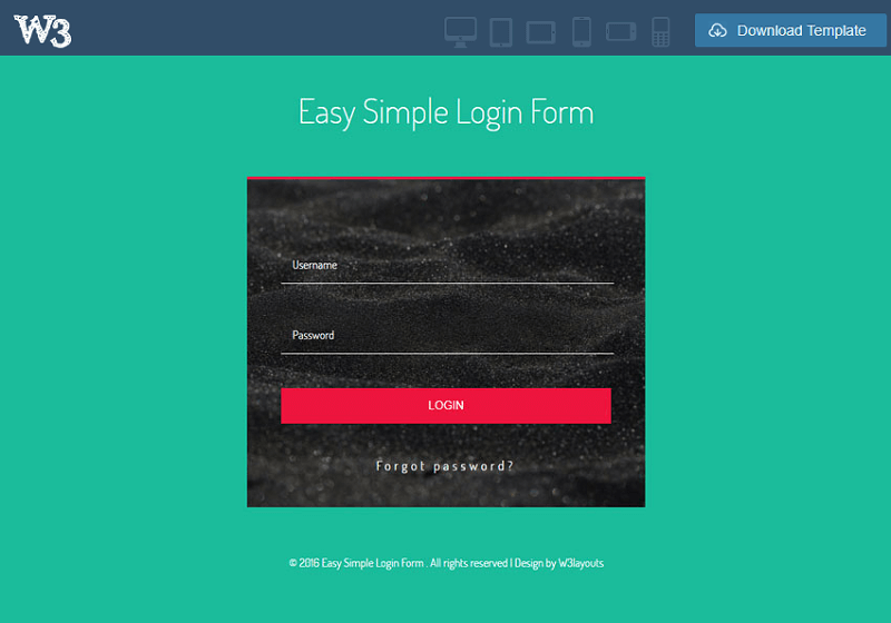 Easy Simple Login Form