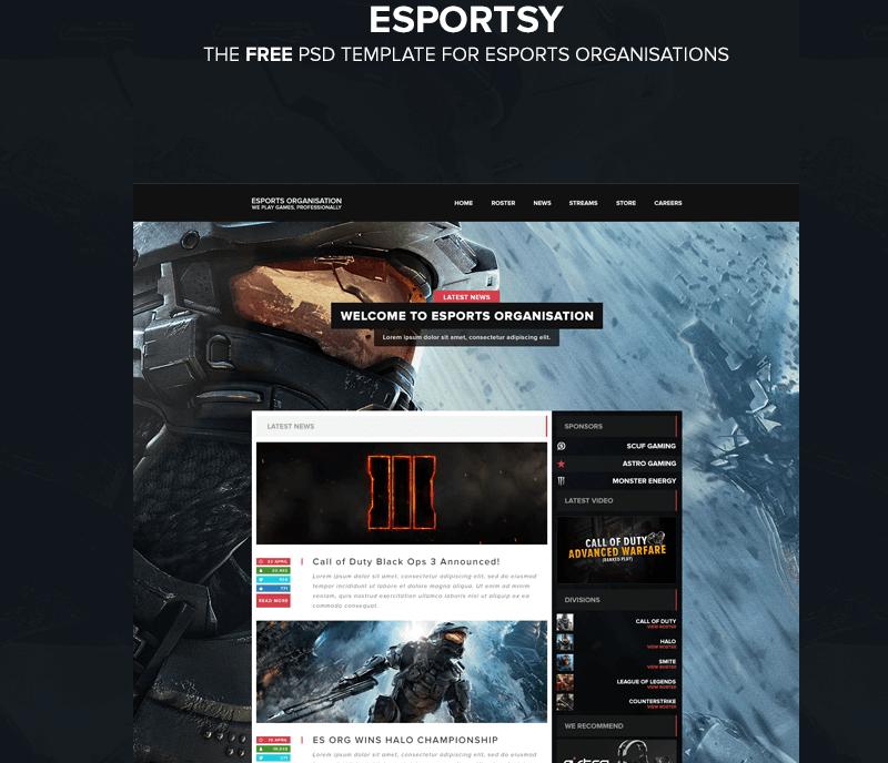 Esports Web Template