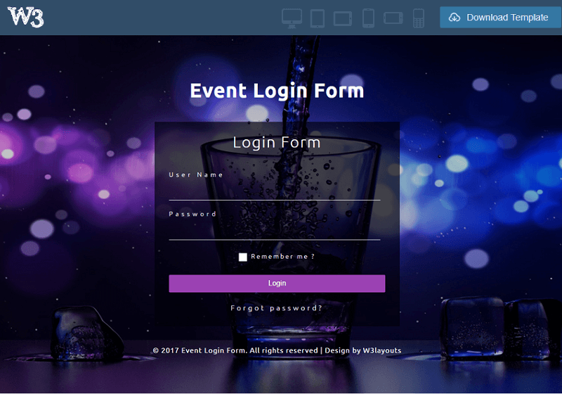 Event Login Form