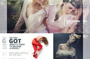 Free Fashion PSD Website Templates