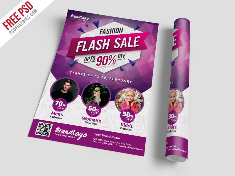 Fashion Sale Flyer Template Free PSD