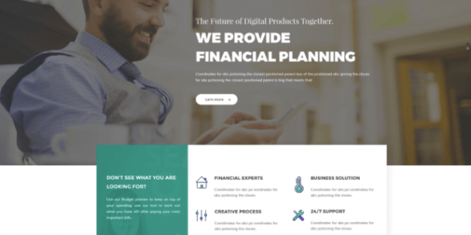 Free Business PSD Website Templates