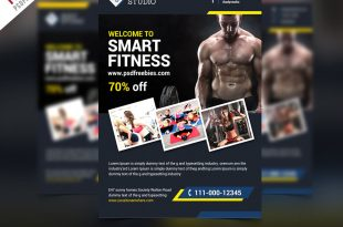Free Fitness Gym Flyer PSD Templates