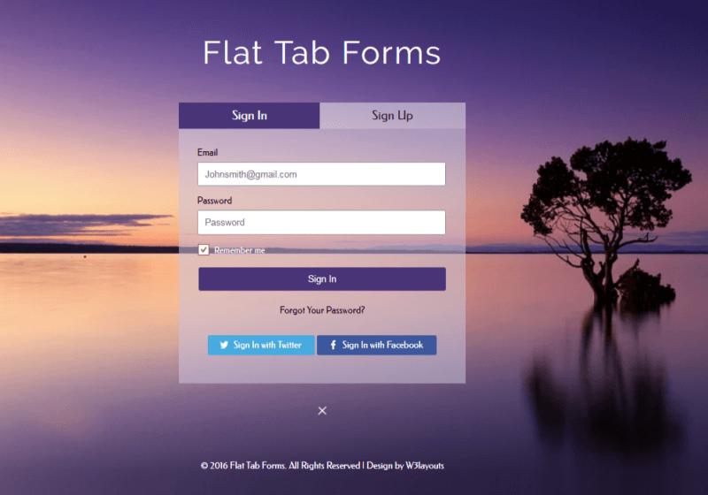 Flat Tab