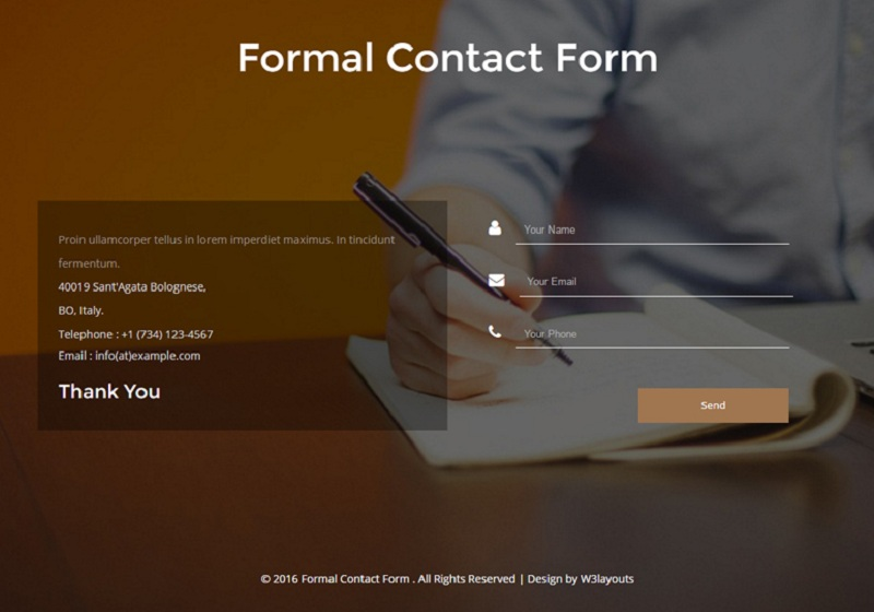 Formal Contact Form