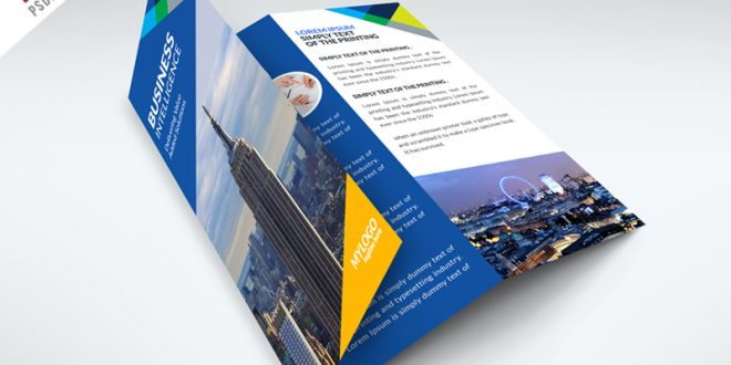 TriFold Business Brochure PSD Templates