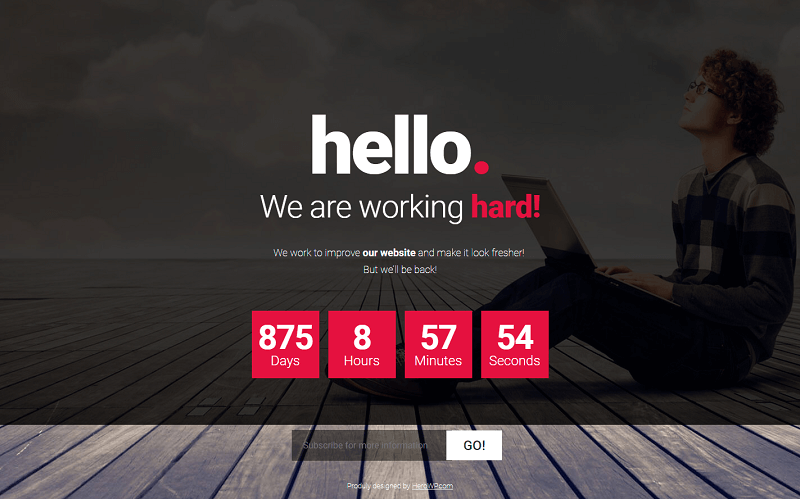 Free Coming Soon HTML Template #2 [PSD Included]