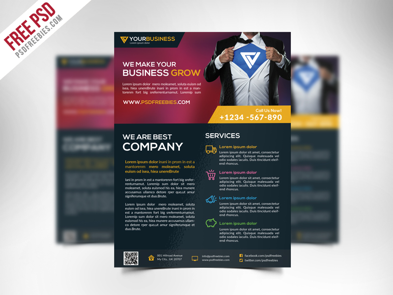 Free Business Flyer PSD Templates