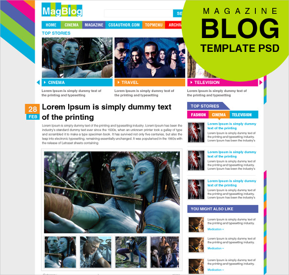 Good Times Magazine Psd Website