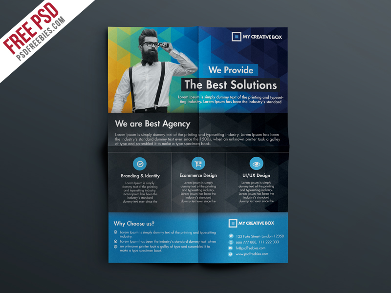 Free Multipurpose Corporate Flyer Template PSD