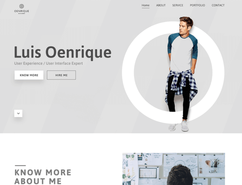 Free Personal Portfolio Web Template PSD