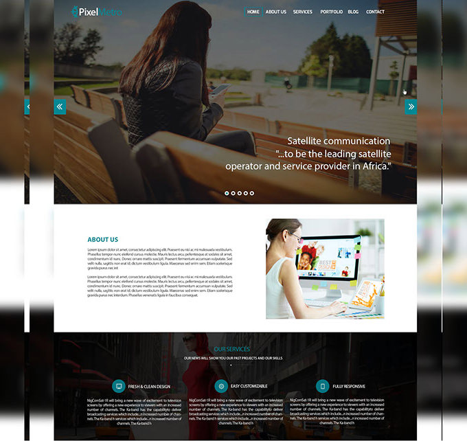 Corporate Web PSD Template