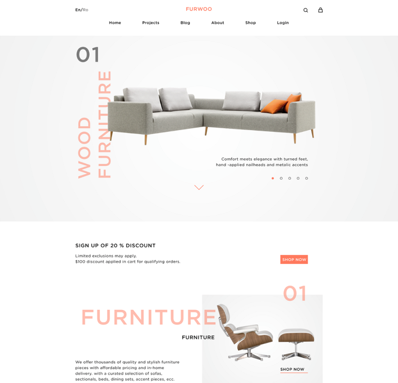 Furfoo – Free Shop Template PSD