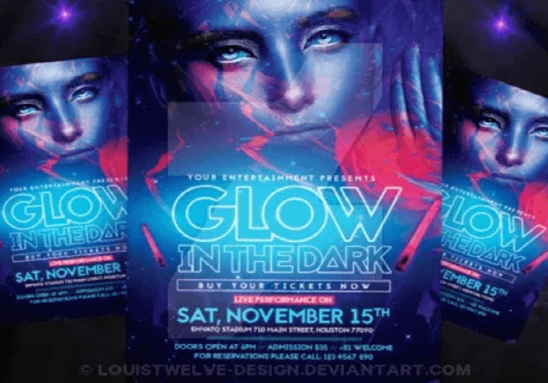 Glow in the Dark Flyer + Instagram Promo