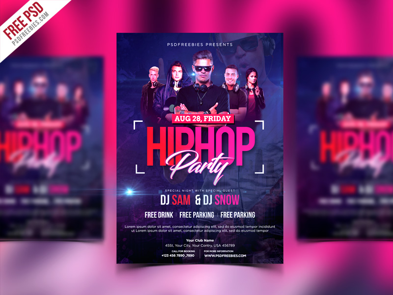 HipHop Party Invitation