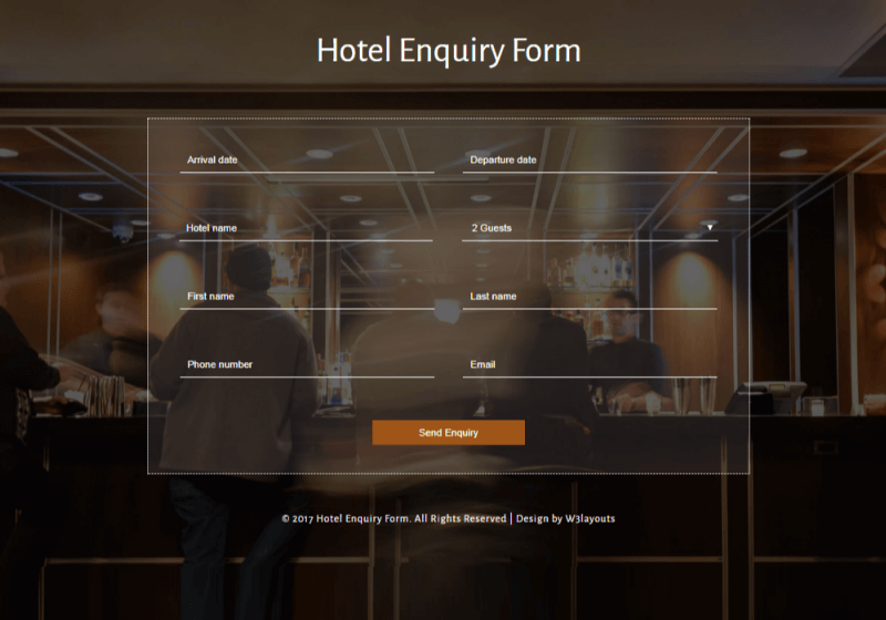 Hotel Enquiry
