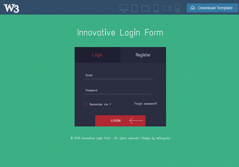 Innovative Login Form