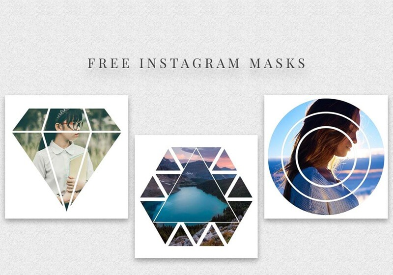 Instagram Masks PSD Template