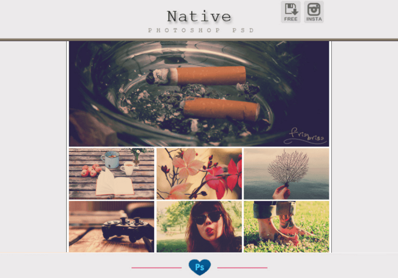 Instagram Native - Photoshop PSD
