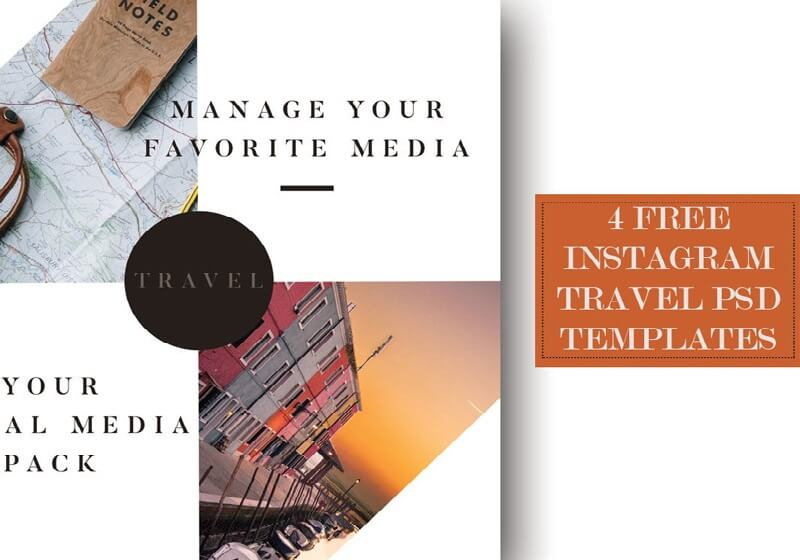 Instagram Travel PSD Template