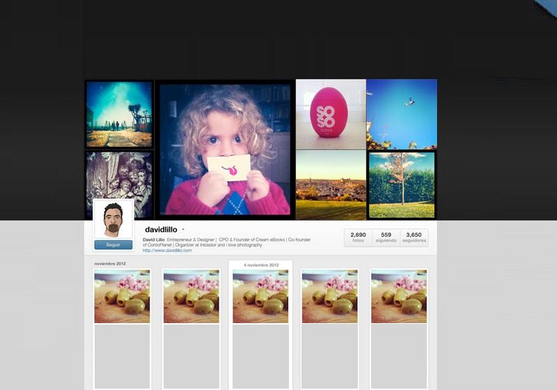 Instagram Web Profiles GUI PSD