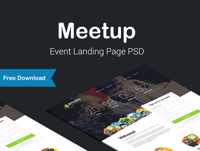 Meet Up Event Landing Page