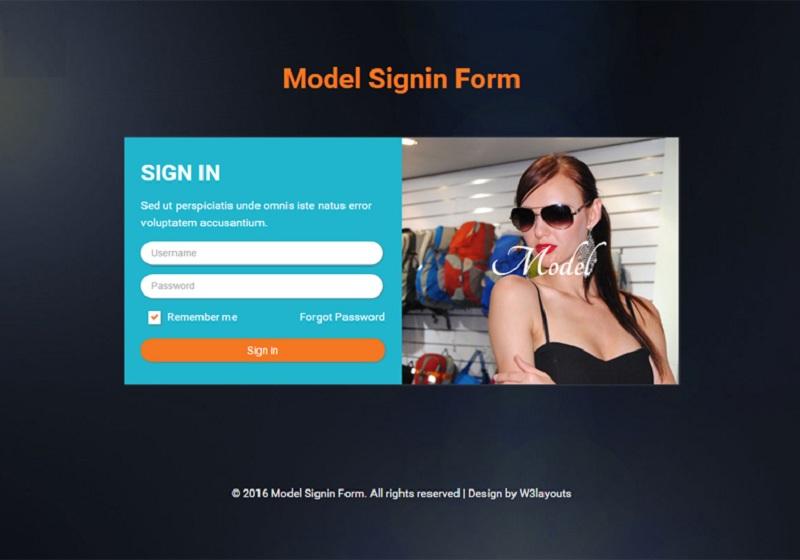 Model Signin Form
